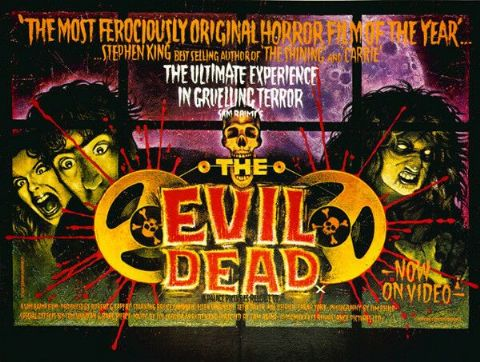 Evil Dead Vintage Movie Poster T-Shirt. Classic Horror Film Gift. Adults, Ladies & Kids Sizes